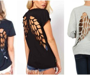 Wings Cutout T-shirt Tutorial