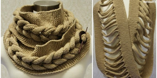 Knit Big Cable Cowl
