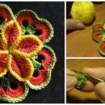 Crochet Flower Of Squares