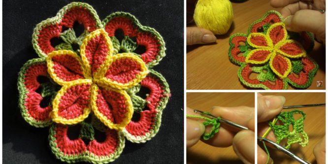 Crochet Flower Of Squares