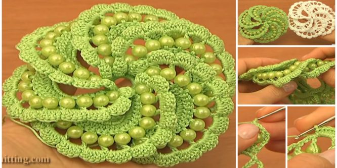 Spiral Flower With Beads