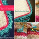 Crochet Reverse Shell Stitch Edging
