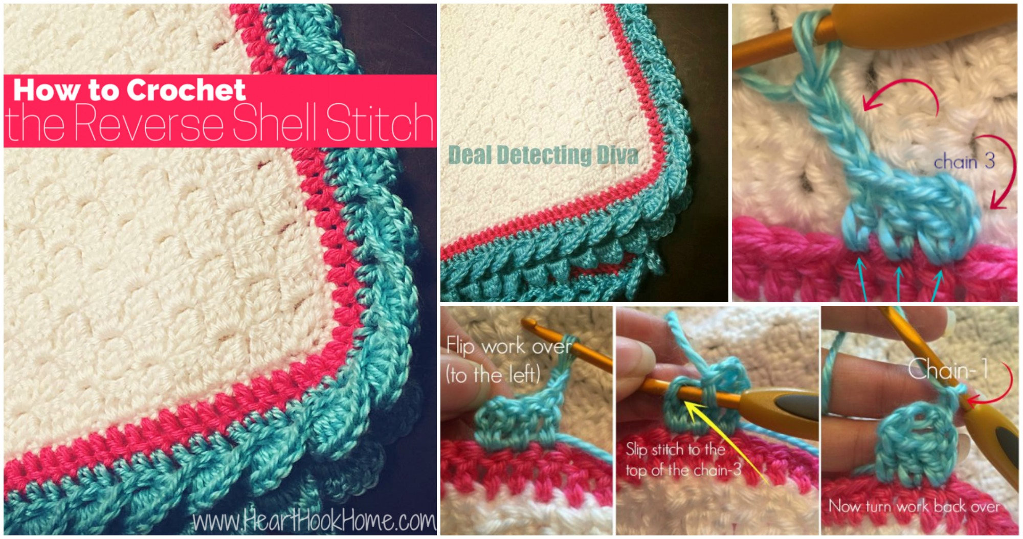 Crochet Reverse Shell Stitch Edging Pretty Ideas