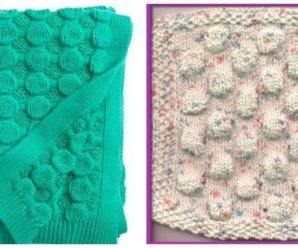 Knit Bubble Wrap Stitch