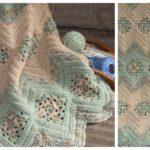 Crochet Granny's & Ripples Afghan