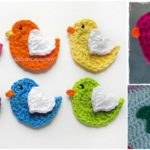 Crochet Lovely Bird Applique