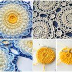 Textured Crochet Motif