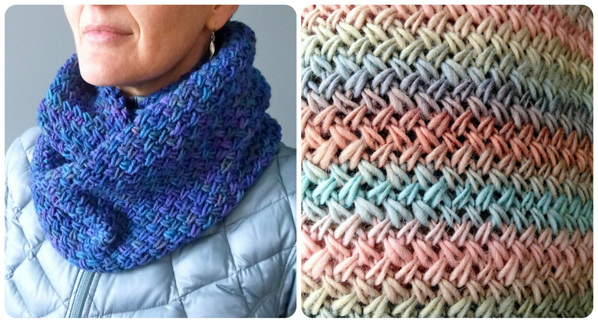 Snowdrift Infinity Cowl Stitch - Pretty Ideas