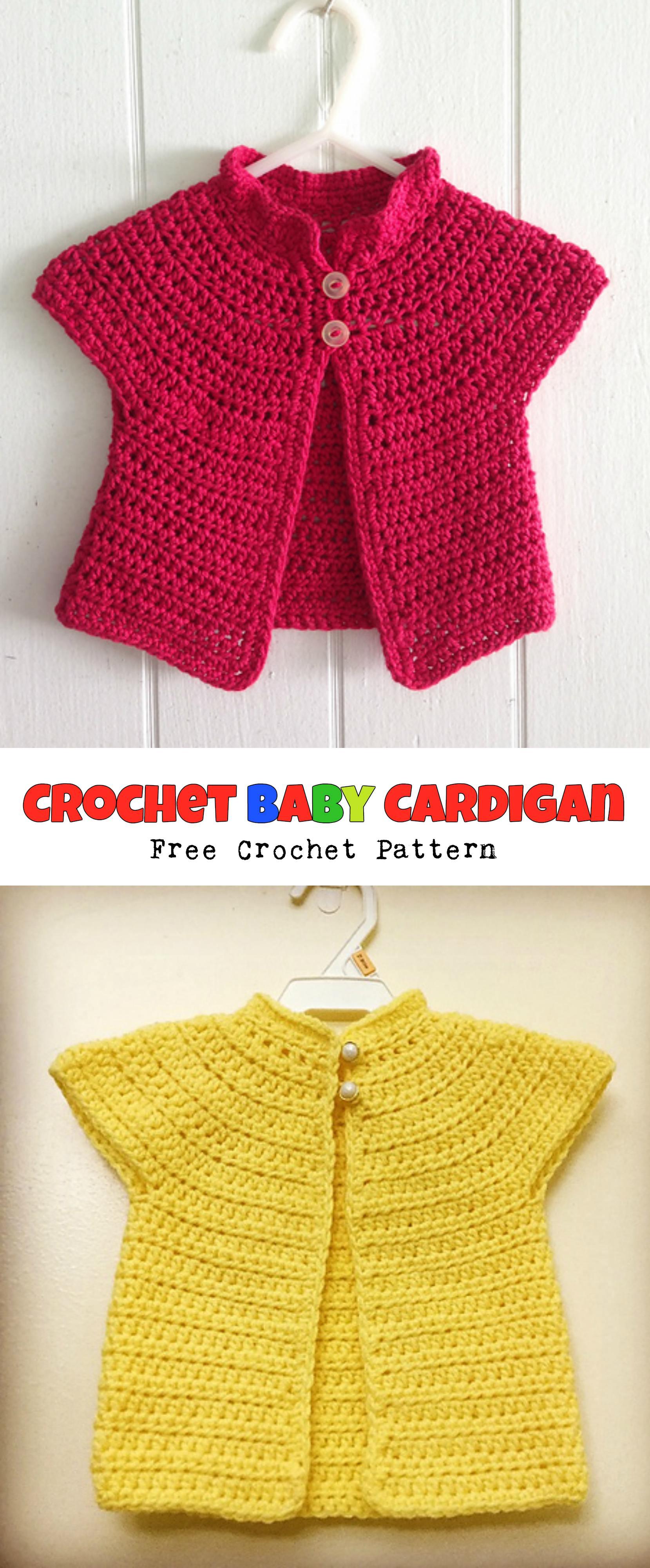 49cad2d2b Baby Cardigan - FREE Pattern - Pretty Ideas