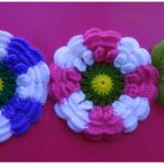 Crochet Two Colored Flowers