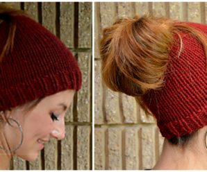 Holey Hat Free Knitting Pattern