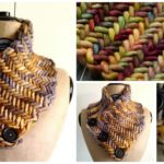 Knit Herringbone Neckwarmer