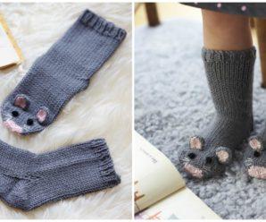 Knit Mice Socks