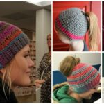 Ponytail Hat's Free Pattern