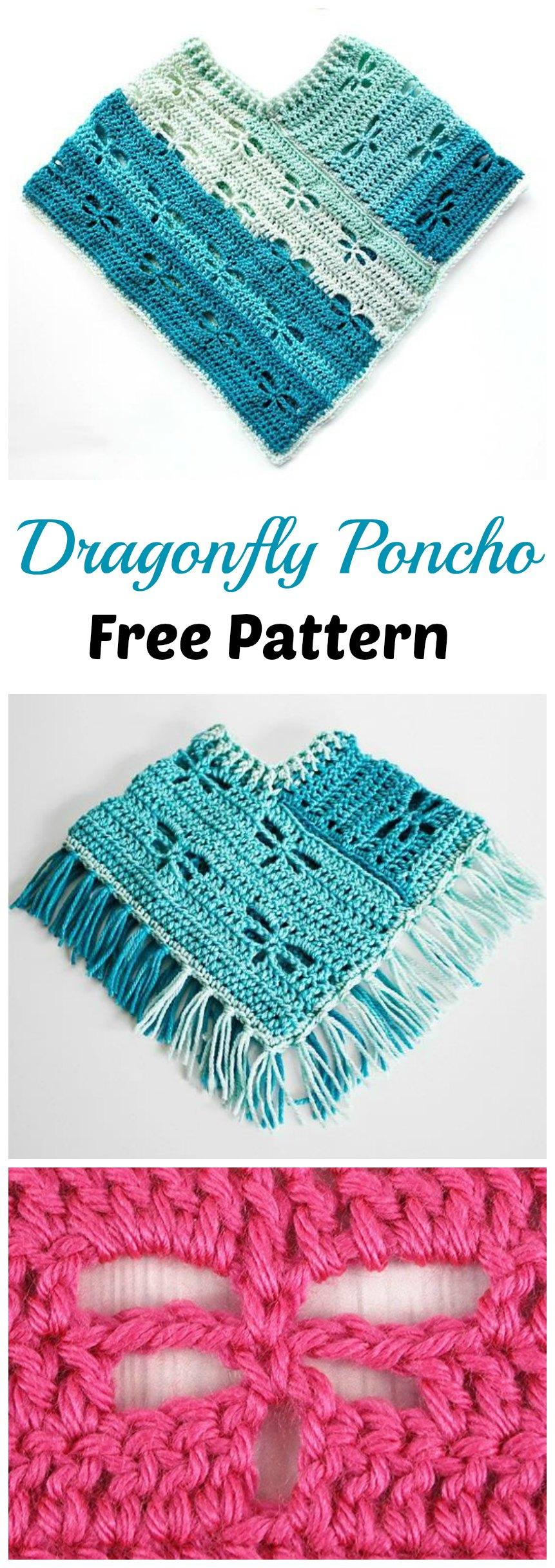 Crochet Dragonfly Poncho Pretty Ideas