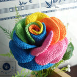 Crochet Colorful Rose