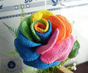 Crochet Colorful Rose