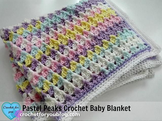 Pattern For Pastel Peaks Baby Blanket Amp Hat Pretty Ideas