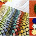 Crochet Blanket With Squares