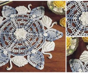 Six Swans Swimming Doily