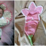 Spring Flower Newborn Cocoon