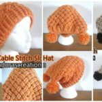 Interweave Cable Stitch Slouch Hat