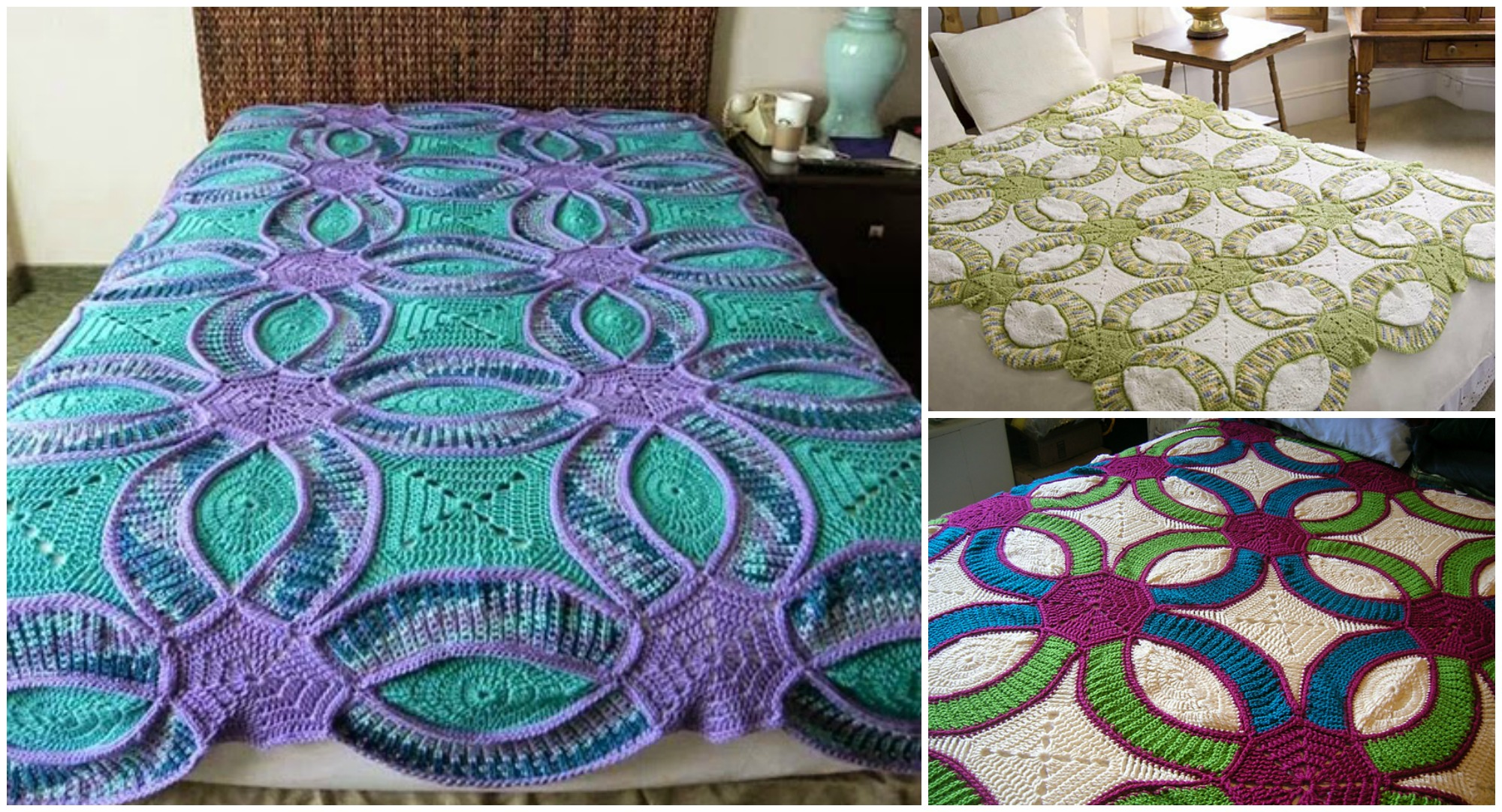 Crochet Wedding Ring Quilt Pretty Ideas