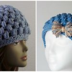 Puff Stitch Crocheted Hat