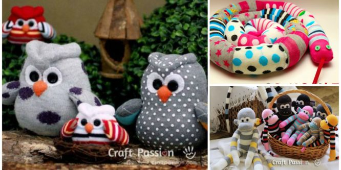 Owl, Snake & Monkey With Socks – Easy Tutorial