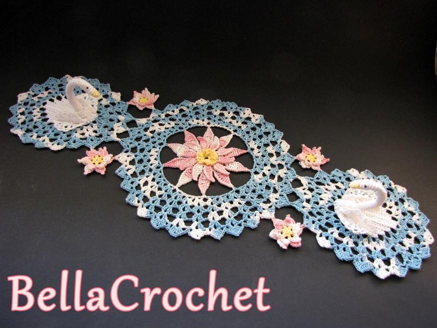 Swans Doily Free Crochet Pattern Pretty Ideas