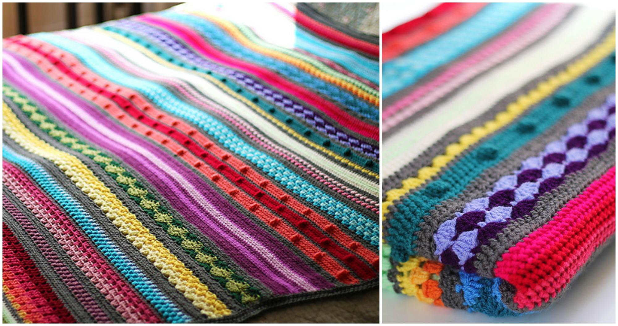 Rainbow Sampler Blanket Pretty Ideas