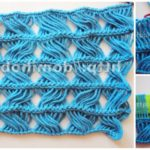 Crochet Stitch With Long Crosses