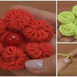 3D Flower Crochet Tutorial