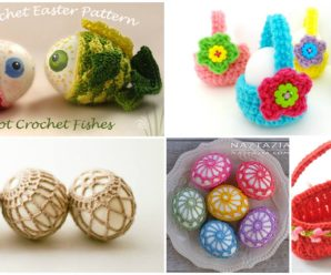 Crochet Cute Decorations For Easter Eggs