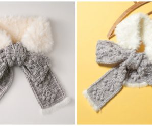 How To Crochet Elegant Bow Scarf