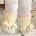 Knit Bunny Booties