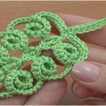 Crochet Simple Leaf With Spirals