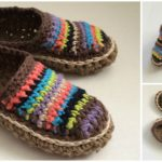 Crocheted Pretty Moccasins