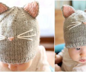 Pretty Kitty Hat Knitting Pattern FREE