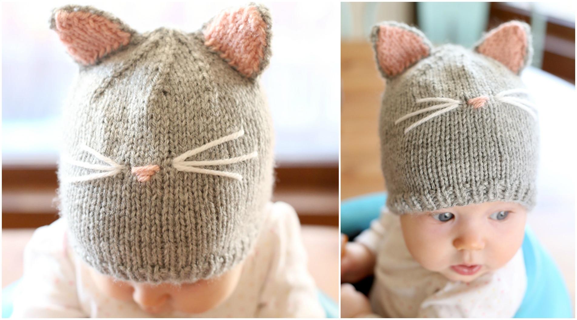Pretty Kitty Hat Knitting Pattern Free Pretty Ideas