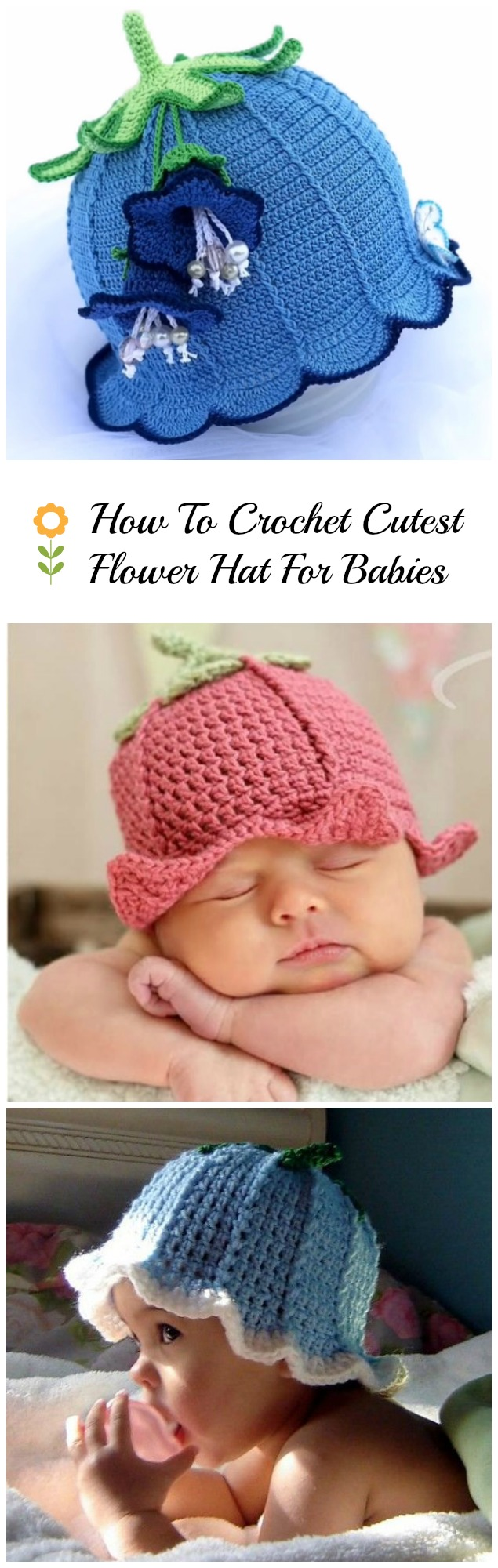 Crochet Baby Hat With Bell - Video Tutorial - Pretty Ideas