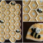 Honeycomb Blanket and Hat For Babies