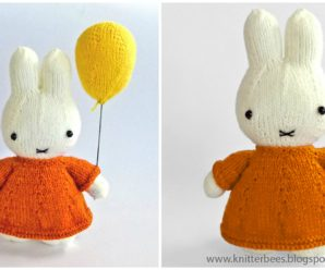 Knit Bunny With Balloon