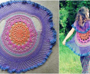 Lotus Mandala Circular Vest