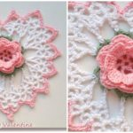 Crochet Rose In Heart
