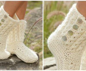 "Knit Slippers ""walk in the clouds"""