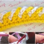 Crochet 2 Colors Edging