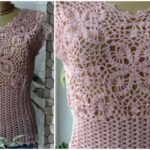 Crochet Spring Blouse With Flower
