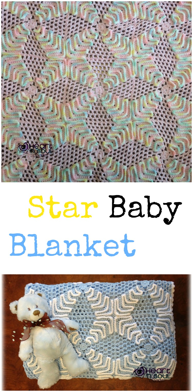 Star Baby Blanket Knitting Pattern : Star-shaped Blanket