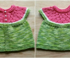 Watermelon Baby Cardigan